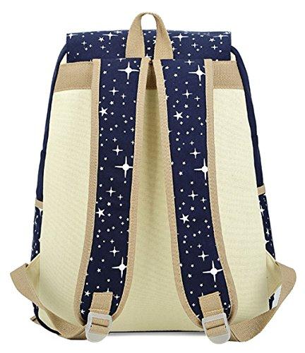 Tibes tela portatile zaino borsa a tracolla casuale cute borsa Nero