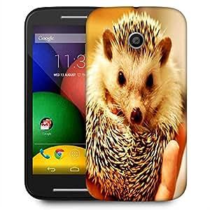 Snoogg Cute Animal Designer Protective Phone Back Case Cover For Motorola E / Moto E