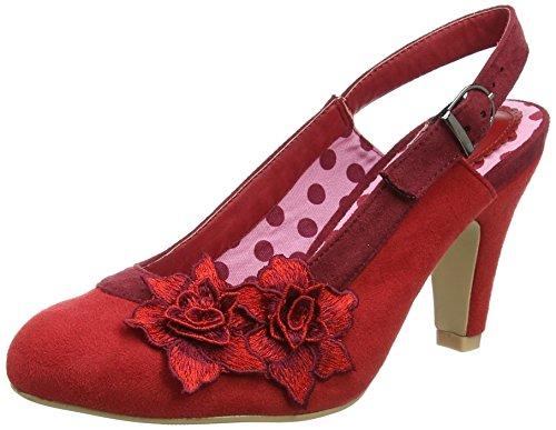 Joe Browns Damen Razzle Dazzle Sling Back Shoes Slingback Pumps, Rot, 41 EU