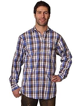 Trachtenhemd Joshua blau/braun K