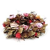 Blütenkranz Rosa Rosen, Blumenkranz, Türkranz, Dekokranz, Rosenkranz, Kranz, Blumen, Ø ca. 30cm