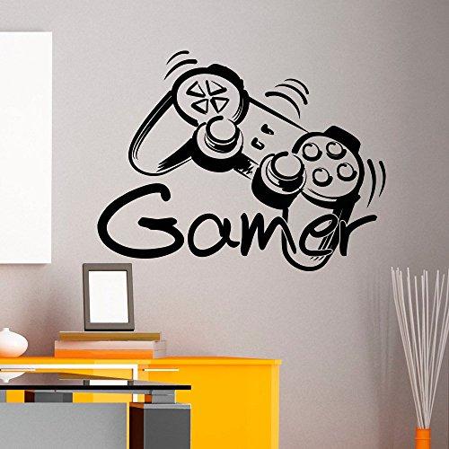 Customwallsdesign - adesivo in vinile da parete, modello gamer