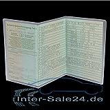 L&P A250-1 2 Stück KFZ Fahrzeugschein Schutzhülle 3 teilig Fahrzeug Schein Etui KFZ Hülle Schutzfolie aus PVC Motorrad Krad transparent (2)
