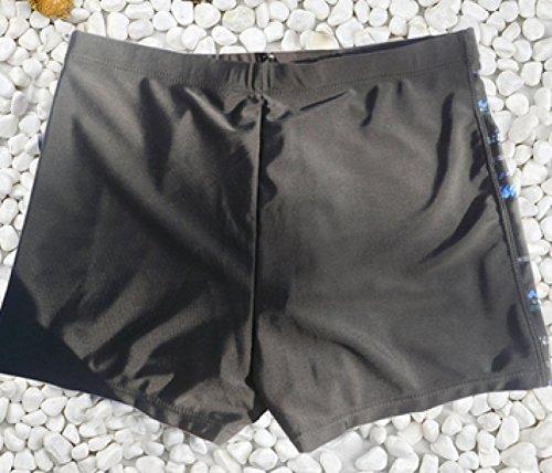 KUWOMINI.Flat Badehose Zu Erhöhen Männer Schwimmhose Heißen Frühling Badehose Black