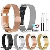 Für Fitbit Laden HR Ersatz Tragegurt, Türkei Milanaise magnetisch Loop Edelstahl Watch Band mit Fall für Fitbit Laden HR