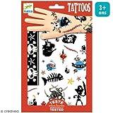 Djeco–Tattoos Piraten, Beige, 2(dj09584a)