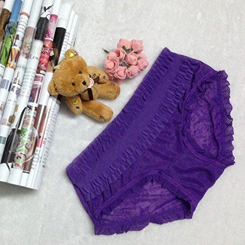 QPLA@T-back Unterhosen Schlüpfer Niedrige taille Slip Damen Unterwäsche Tangas purple onesize