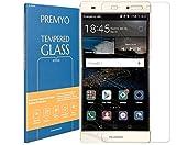 PREMYO Vetro Temperato per Huawei P8 Lite Pellicola Protettiva per P8 Lite Protezione Schermo Compatibile con Huawei P8 Lite Durezza 9H Bordi 2,5D Anti-Graffi Bolle Impronte