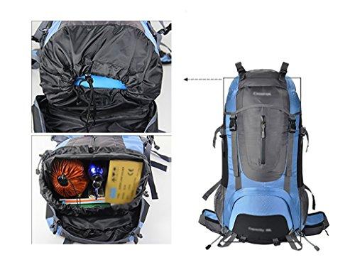 zaino trekking Maschio / femmina 60L / 70L / 80L Escursione Outdoor Borsa da spalla Tempo libero Sport Borsa da montagna Zaini da escursionismo ( Colore : N-80L-30*18*70cm ) I-60L-35*23*70cm