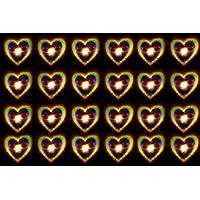 Corazones holográficos Tamaño de la película A4