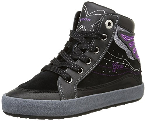 Geox JR WITTY A Mädchen Hohe Sneakers Schwarz (C9999 BLACK)
