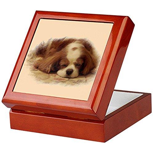 CafePress-Cavalier King Charles Spaniel-Keepsake Box, fertig Hartholz Jewelry Box, Samt Gefüttert Memento Box mahagoni -