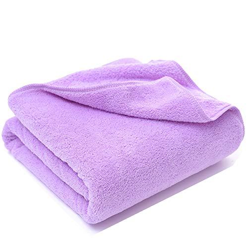 Handtuch, Korallensamen-Bade-Handtuch Set Glatte absorbierende Mikrofaser-Kinder Erwachsenen Badetuch, Absorbente, Gym, Laufen, Ciclismo, Yoga, Pilates, etc. Handtuch,Purple