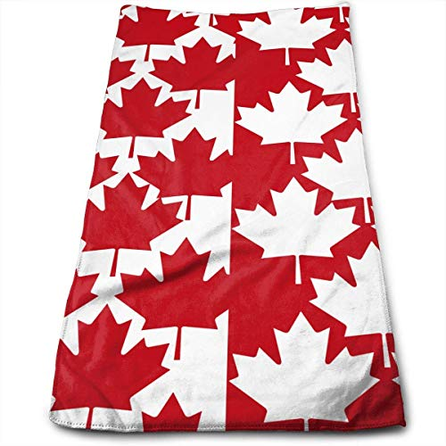 ERCGY Canada Maple Leaf Kitchen Towels - Dish Cloth - Machine Washable Cotton Kitchen Dishcloths,Dish Towel & Tea Towels for Drying,Cleaning,Cooking,Baking (12