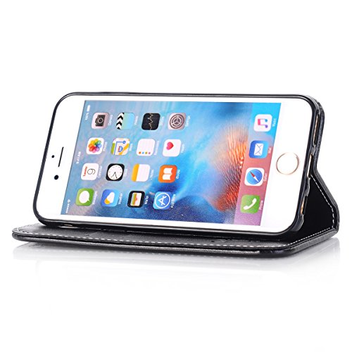 iPhone 6S Plus / iPhone 6 Plus Hülle, ANNNWZZD iPhone 6S Plus / iPhone 6 Plus Handyhülle im Buchstyle Premium Kunstleder Tasche Flip Case Etui Schutz Hülle für iPhone 6S Plus / iPhone 6 Plus,A10 A02