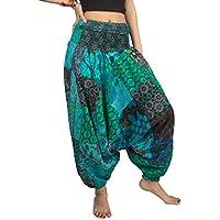 Tribe Azure Fair Trade Pantalones para Mujer Medio Serena Turquesa