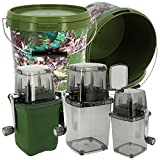 NGT Carp fishing Bait Grinder System with Neoprene Case and 10L Camo Bait Bucket