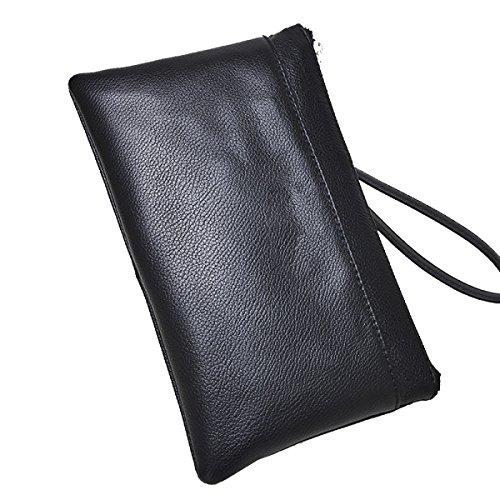 Yy.f Neue Tasche Handtasche Mann Tasche Leder Weiche Leder Der Beiläufigen Männer Der Tasche Kupplung Mit Hohen Kapazität Handtasche Taschen Casual Männer Black