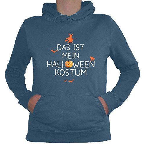 Shirtfun24 Damen DAS IST MEIN HALLOWEEN KOSTÜM Fun Lady Hoodie airforce blau, (Air Force Halloween Kostüme)