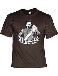 T-Shirt - König Ludwig - auf Bayern - Lustiges Bayerisches Sprüche Shirt Ideal Für's Oktoberfest Statt Lederhose und Dirndl