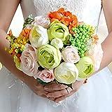 ZEMER Hochzeit Kunstblumen Romantische Bouquet Brautstrauß Brautjungfer Bouquet Künstliche Blumen Valentinstag Confession Party Kirche