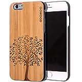 Coque iPhone 6 / 6S en bois | Coque en Bois de Bambou avec Gravure Arbre - Côtés en...