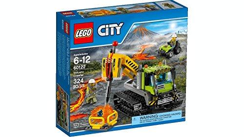 LEGO City 60122 - Set Costruzioni City Vulcano Cingolato Vulcanico