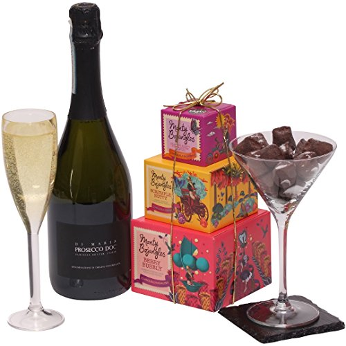 Prosecco and Chocolate Truffles Gift Basket - Wine Gifts For Her - Ladies Hampers & Gift Hampers