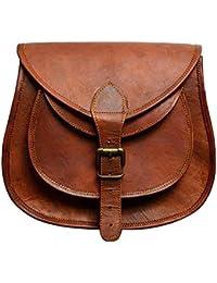 Skorzany Leather Crossbody Shoulder Satchel Sling Bag For Women