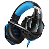easysmx GS600 Multifunktional Wired Gaming Headset mit verstellbarem Mikrofon für XBox 360 PS3 PS4 PC Handy Laptop und Tablet Inline-Controller one-key Dämpfer
