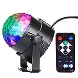 InnooLight Mini Luces Discoteca Luz de Fiesta Bola Mágica 7 Colores RGB LED Iluminación de Efecto Esenario Disco Club DJ Luz Cambiada por Música y Control Remoto para Discoteca, fiesta, boda, Navidad,