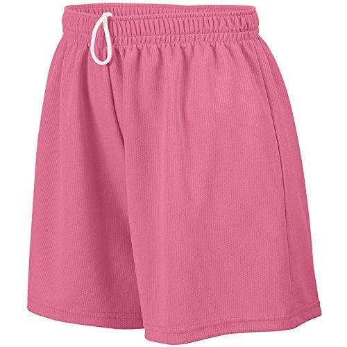 Augusta Sportswear Girls' WICKING MESH SHORT M Pink by Augusta Sportswear - Augusta Sportswear Mesh Shorts