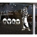 Salon de coiffure Barbershop Window Decal Sticker Décor mur blanc