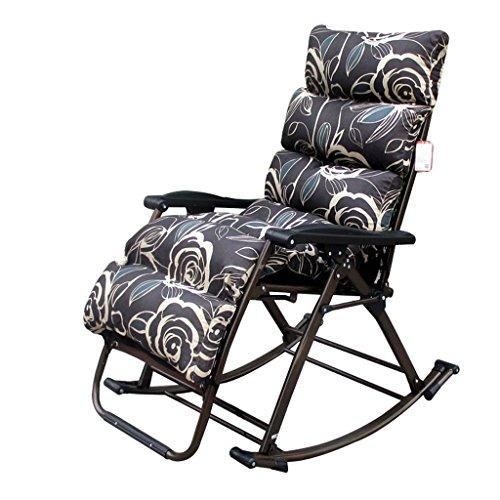 Siesta Streifen (CL & Waschbare Recliners zusammenklappbar Dicke Kissen tragbare Büro Mittagspause Siesta Balkon Schlafzimmer Stuhl Streifen Schwerelosigkeit Stuhl (Color : B))