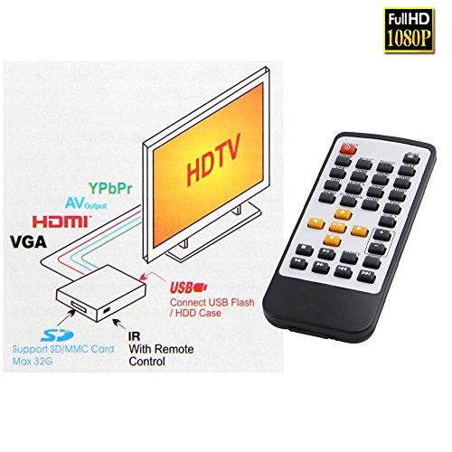 Pathson Full HD 1080P HDMI Media Player Center TV HDD MKV SD USB MP4 RM  RMVB MPEG AVI Digital Auto-play Loop-Play - Uk Appliances Direct