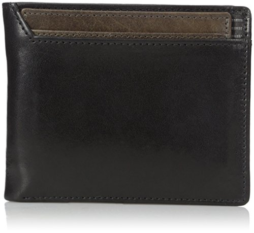 dopp-mens-alpha-rfid-blocking-id-deluxe-billfold-three-in-one-slim-front-pocket-wallet-black-one-siz