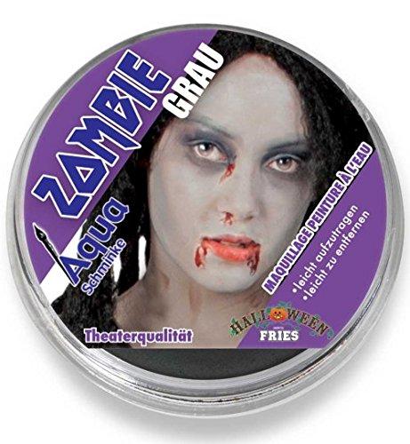 Zombiegrau Aqua Schminke Halloween Theater-Schminke Zombie Grau 15g Tiegel