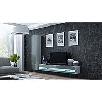 Schön Wohnwand VIGO NEW9, Anbauwand, Wohnzimmer Möbel, Hochglanz !!! Mit LED  Beleuchtung