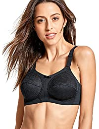 Delimira Women's Unlined Firm Support Plus Size Non-Wired Full Cup Bra Molded