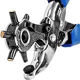 S&R Alicate Perforador Sacabocados Profesional / MADE IN GERMANY / Punzonador con 6 tubos de orificio ovalado: 5,7 x 3,8 mm, 4,6 x 3,0 mm, 6,3 x 3,5 mm, 7 , 3 x 4,3 mm, 7,8 x 3,0 mm, 6.0 x 3.0 mm