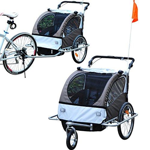Outsunny - Rimorchio portabimbi 2 in 1 per bicicletta...