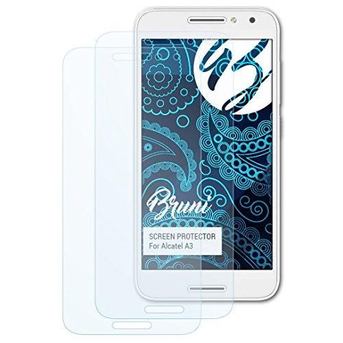 Bruni Schutzfolie kompatibel mit Alcatel A3 Folie, glasklare Bildschirmschutzfolie (2X)