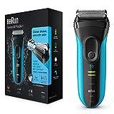 Braun Series 3 ProSkin 3040s - Afeitadora eléctrica/máquina de afeitar recargable Wet & Dry (de uso en húmedo y seco) color azul