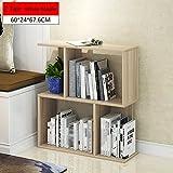 TINGTINGDIAN Einfaches Modernes Freies Kombinationsbücherregal, Bücherregal, Einfaches Regal, mehrstöckiges Trennwandregal, Bücherregalausstellungsgestell.