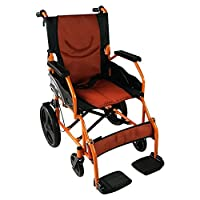 Transit wheelchair | With footrest, backrest and padded armrest, with brakes on the handles | Seat width: 46 cm | Model: Piramide (46 cm) | Mobiclinic