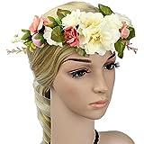 ROSENICE Corona diadema mujeres las muchachas de flor boda pelo corona diadema flores guirnalda