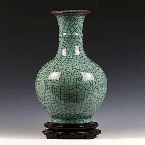 Keramik Antike Offizielle Brennofen BO Alten Rahmen Vase Chinesischen Stil Klassische Home Wohnzimmer Handwerk Einrichten 19x31 cm ()