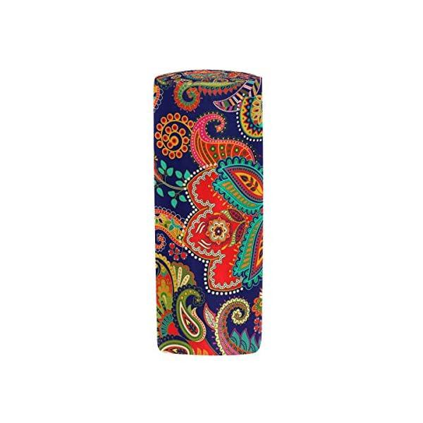 Estuche con cremallera, diseño de flores de cachemira, para bolígrafos, bolso de maquillaje, bolso, escuela, niños…