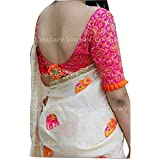 Hasti Fashion Silk Sarees Women's Chanderi Silk Saree With Blouse Piece New Saree 2018(White_Elephant)