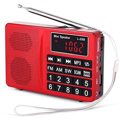 ble Radio mit SW/UKW FM/AM(MW)/SD/TF/USB(0-64 GB) MP3 Basslautsprecher(Keine manuelle Einsparung von Radio Station-Funktion) ()